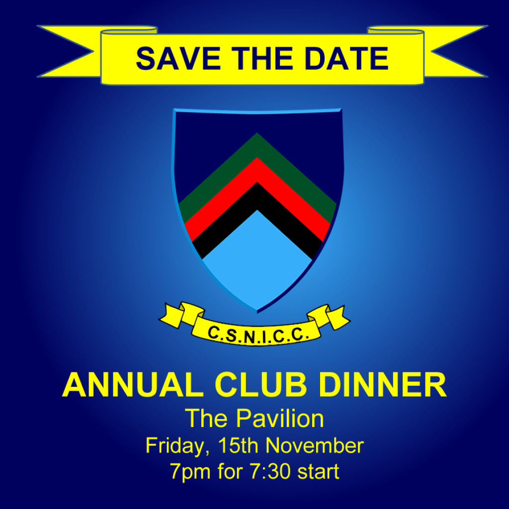 Save the Date - Annual Club Dinner